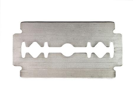 dissect: razor blade on white background  Stock Photo
