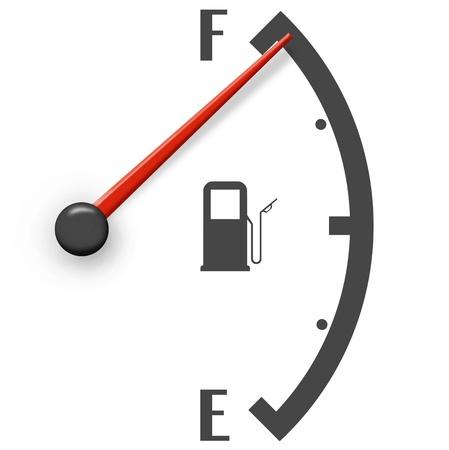 Hoge brandstofprijzen teken geïsoleerd op een witte achtergrond