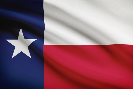 texan: Texan flag blowing in the wind. Part of a series.