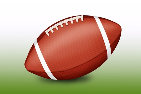afc: American football ball on gradient green-white background - illustration  Stock Photo