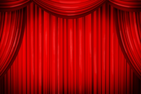Closed curtains in theater of similar place photo