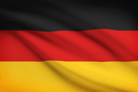 federal republic of germany: German flag blowing in the wind. Part of a series.