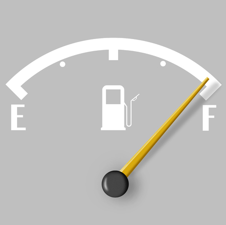 Full fuel sign isolated on grey background photo