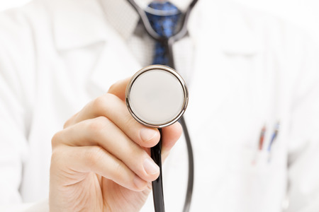 Medical doctor with stethoscope Standard-Bild