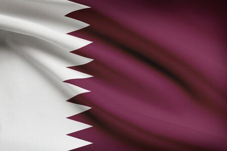 unitary: Qatari flag blowing in the wind. Part of a series.