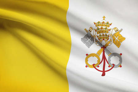 elective: Vatican City State flag blowing in the wind. Part of a series.