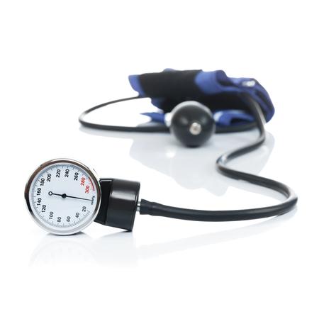 Blood pressure meter medical equipment isolated on white - studio shot Stock Photo - 23439201