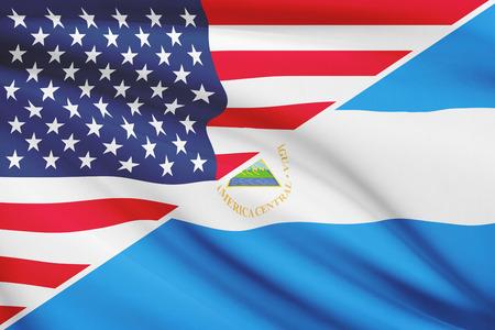 nicaraguan: USA and Nicaraguan flag. Part of a series.