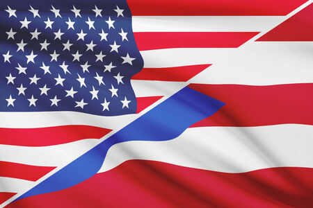 puerto rican flag: USA and Puerto Rican flag. Part of a series.
