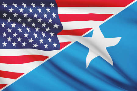 somalian: USA and Somalian flag. Part of a series.