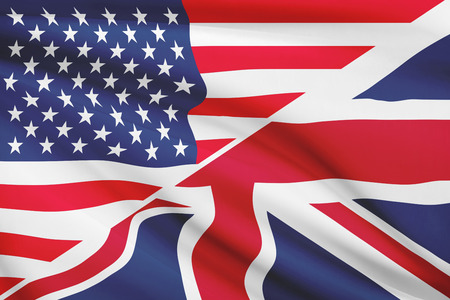 USA and British flag. Part of a series.