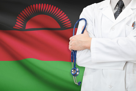 malawian flag: Concept of national healthcare system - Malawi