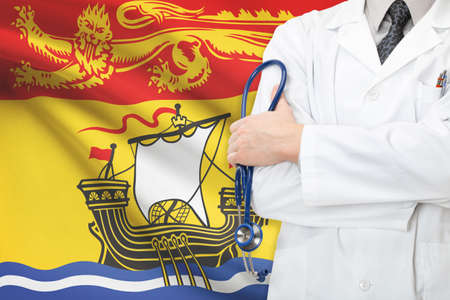 Concept of Canadian national healthcare system - New Brunswick province photo