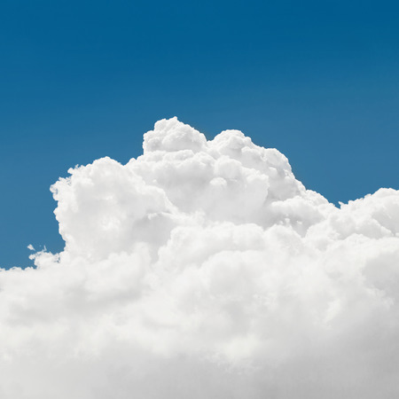 cumulus: Cumulus clouds and blue sky - outdoors shoot