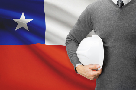 architector: Architect with flag on background  - Chile