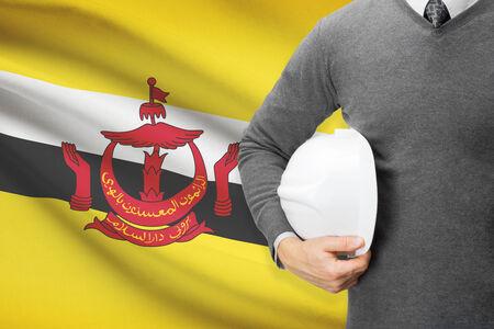 architector: Architect with flag on background  - Brunei