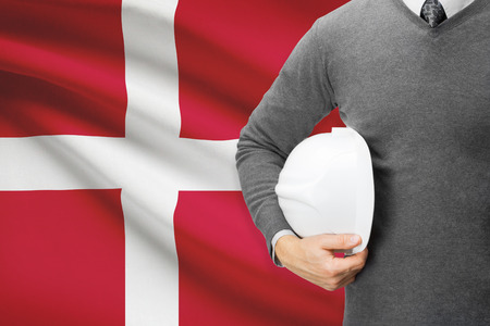 architector: Architect with flag on background  - Denmark