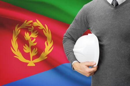 architector: Architect with flag on background  - Eritrea
