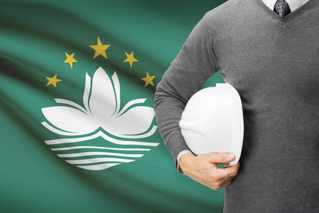 architector: Architect with flag on background  - Macau