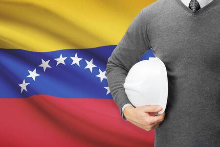 architector: Architect with flag on background  - Venezuela