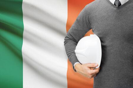 architector: Architect with flag on background  - Ireland