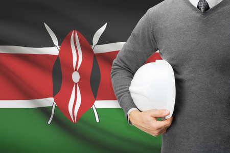 architector: Architect with flag on background  - Kenya