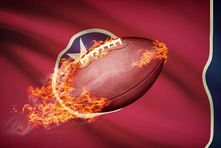 American football ball with flag on backround series - Tennessee