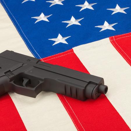 amendment: Gun over USA flag