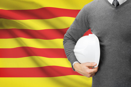 independent contractor: Engineer with flag on background series - Catalonia