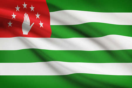 abkhazia: Flag blowing in the wind series - Abkhazia