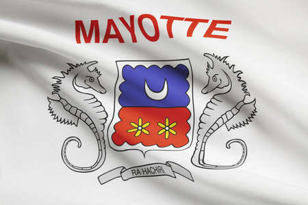 mayotte: Flag blowing in the wind series - Mayotte