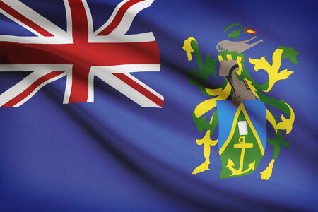pitcairn: Flag blowing in the wind series - Pitcairn Island