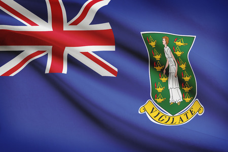 virgin islands: Flag blowing in the wind series - British Virgin Islands
