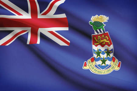 cayman islands: Flag blowing in the wind series - Cayman Islands
