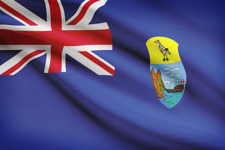 helena: Flag blowing in the wind series - Saint Helena