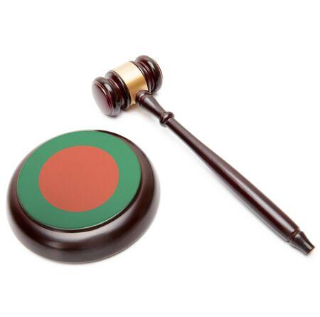 national flag bangladesh: Judge gavel and soundboard with national flag on it - Bangladesh