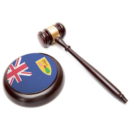 turks: Juzgue el mazo y caja de resonancia con la bandera nacional en �l - Islas Turcas y Caicos