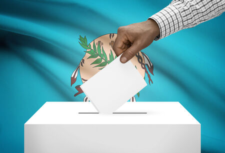 electoral system: Voting concept - Ballot box with US state flag on background - Oklahoma
