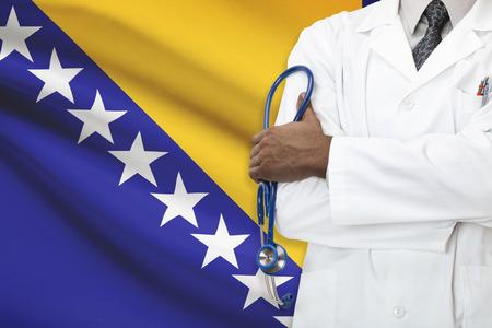 herzegovina: Concept of national healthcare system - Bosnia and Herzegovina Stock Photo