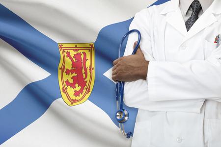 scotia: Concept of Canadian healthcare system - Nova Scotia Stock Photo