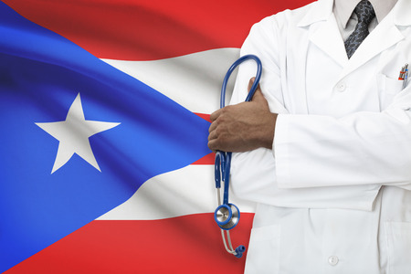 puerto rican flag: Concept of national healthcare system - Puerto Rico
