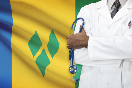 grenadines: Concept of national healthcare system - Saint Vincent and the Grenadines Stock Photo