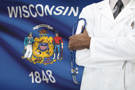 wisconsin: Concept of national healthcare system - Wisconsin Stock Photo
