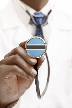 national trust: Stethoscope with national flag conceptual series - Botswana