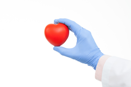 preventative: Doctor holding heart shaped toy in hand