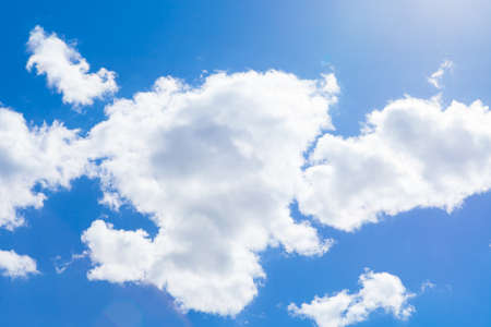 Cumulus clouds and blue sky - outdoors shoot photo