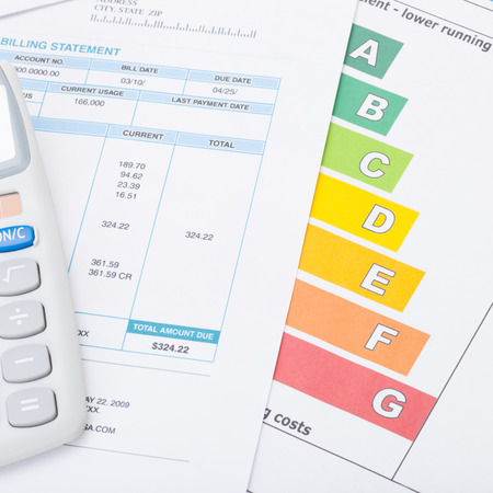 neat energy efficiency chart utility bill and calculator stock