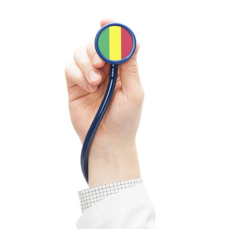 Stethoscope with flag conceptual series - Mali photo
