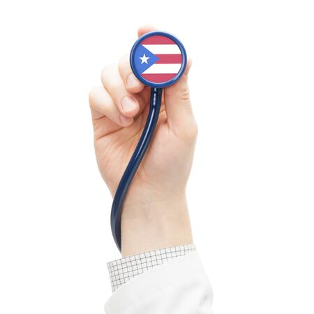 puerto: Stethoscope with flag conceptual series - Puerto Rico Stock Photo