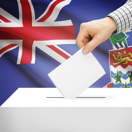 cayman islands: Ballot box with national flag on background series - Cayman Islands Stock Photo